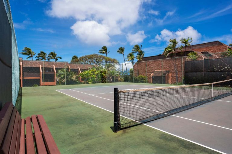 Photo of the tennis court